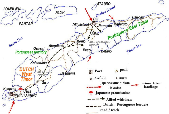 1942-01-26__Japanese_INVASION_of_Timor_-_map